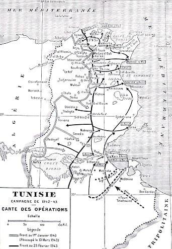 خريطة معركة تونس 1942-1943