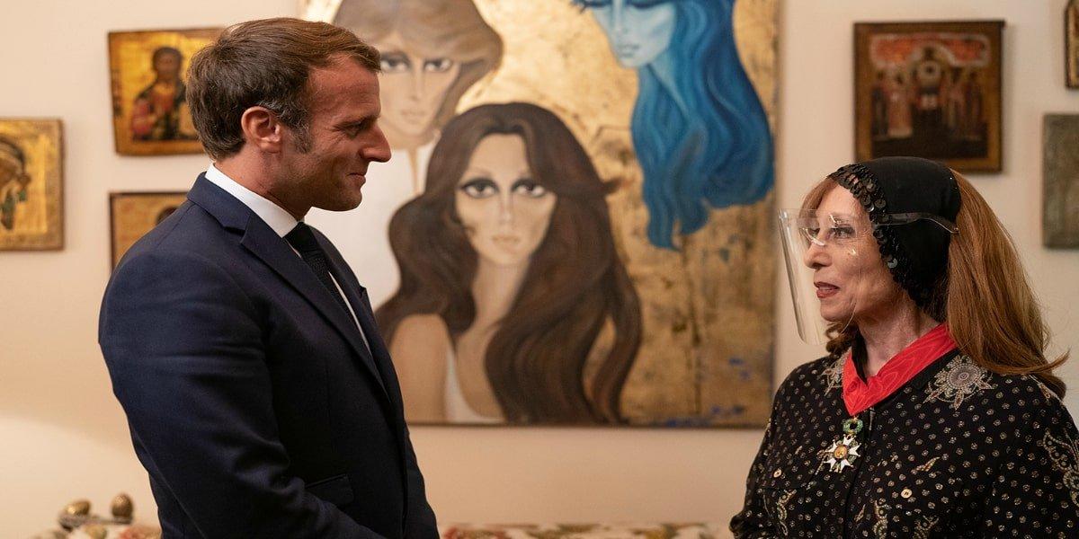 ماكرون في لقاء خاص مع المطربة اللبنانية فيروز